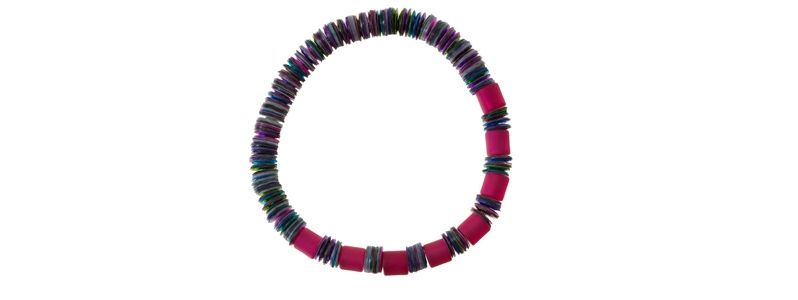 Pailletten Armband Himbeer-Mix