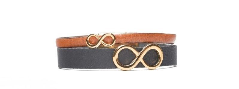 Armband mit Infinity Slidern Vergoldet