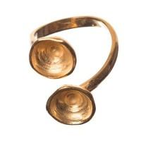 Fingerring mit Fassung für Swarovski Chatons SS39, vergoldet