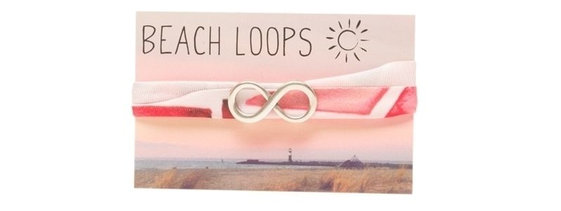 Beach Loop Infinity Versilbert
