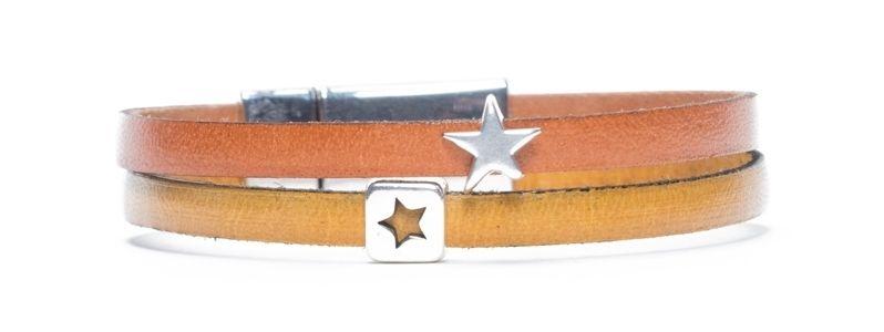 Minisliderarmband Sterne Gelb-Orange