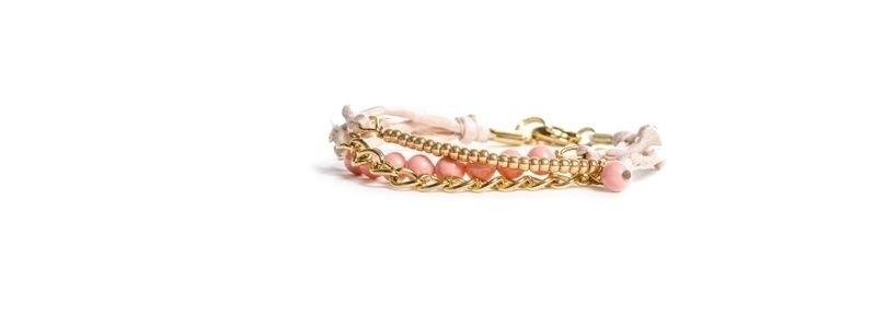 Goldschöne Armbänder Pink Coral