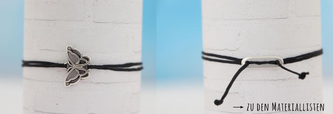 Armband mit Schiebeverschluss machen