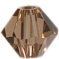 Swarovski Elements Bicone, 4 mm, light smoked topaz