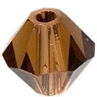 Swarovski Elements Bicone, 4 mm, smoked topaz