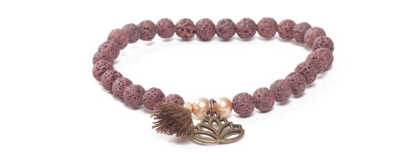 Armband mit Yogaperlen Lotus