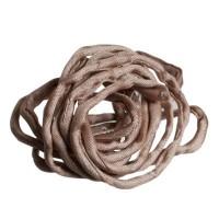 Habotai-Seidenband, Durchmesser 3 mm, Länge 110 cm, beige