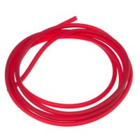 PVC-Schlauch Durchmesser 2,5 mm, rot transparent, Länge 1 m