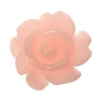 Kunststoffcabochon Rose, 7 x 3 mm, rosa