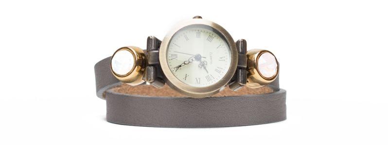 Milano Lederarmband Uhr Bronzefarben