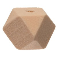 Holzperle Hexagon, 12 x 12 mm, naturfarben