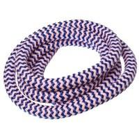 Segelseil / Kordel, Durchm. 10 mm, Länge 1 m, lila-rosa gestreift