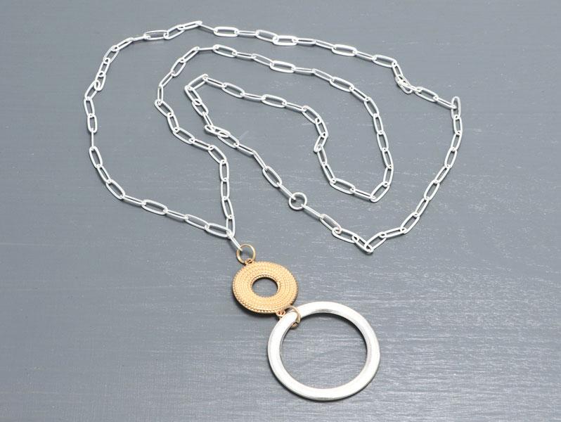New Geometric - Geometrische Halskette Bicolor