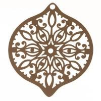 Metallanhänger Boho filigran, 45 x 39 mm, beige
