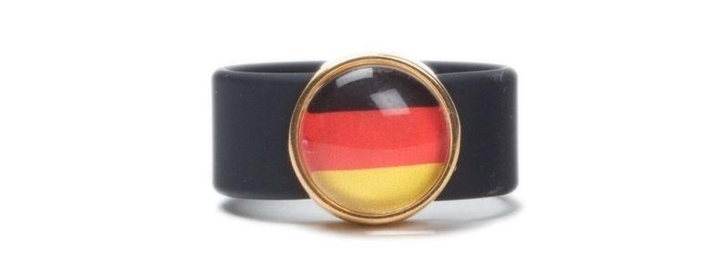 Torjubel Fußballring Schwarz Rot Gold