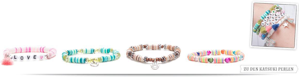 Armbänder mit Katsuki Perlen