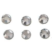 Flat Back Strass, rund, SS20, crystal, 6 Stück