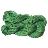Makramee- und Schmuckband, Durchmesser 1 mm, 22 Meter-Paket, grün