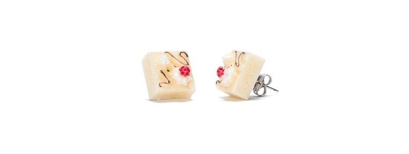 Ohrstecker Vanilledessert