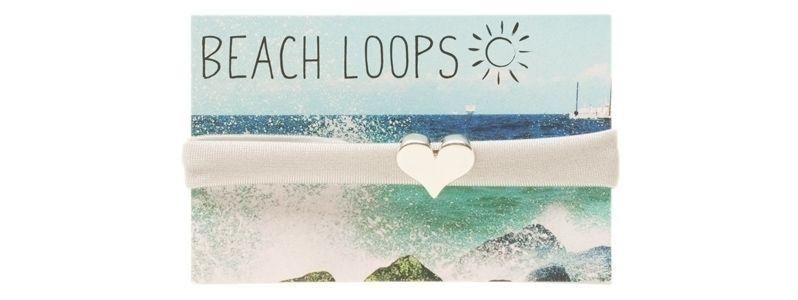 Beach Loop Herz Grau
