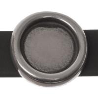 Fassung Slider/ Schiebeperle für runde Cabochons (11 mm), versilbert