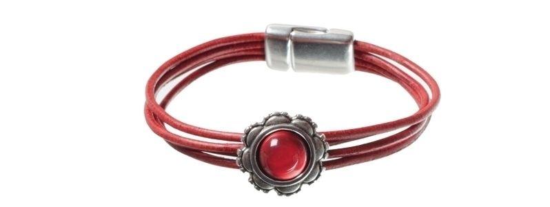 Lack-Armband Rot