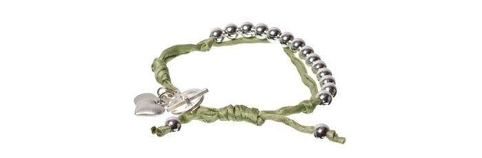 Armband Seide hellgrün A12