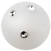 Polaris-Perle Kugel 10 mm, weiß mit Swarovski Steinen