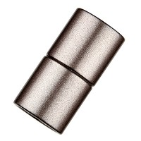 Magic-Power-Magnetverschluss Zylinder 21,5 x 8,5 mm, mit Bohrung 6 mm, granit matt
