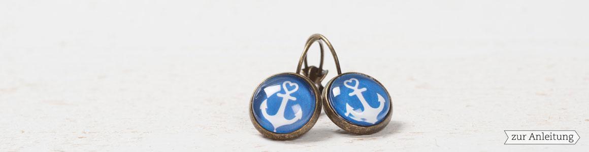 Ohrringe mit Fassungen für Cabochons