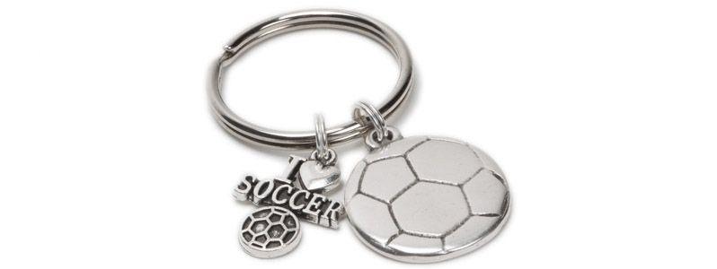 Schlüsselanhänger I love Soccer
