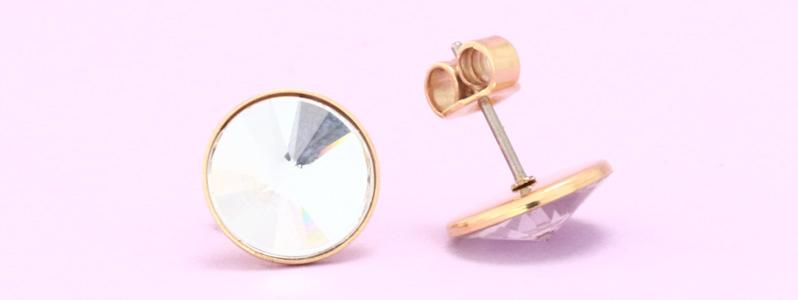Ohrstecker mit Preciosa Rivoli Flat Back Crystal