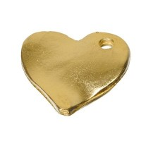 Metallanhänger Herz, vergoldet, ca. 16 mm