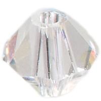 Swarovski Elements Bicone, 4 mm, crystal AB