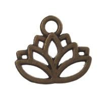 CM Metallanhänger Lotus, 15 x 17 mm, bronzefarben
