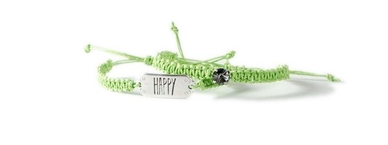 Makrameearmbänder Happy