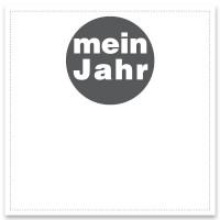"""Schmuckkarte """"Mein Jahr"""", weiß, quadratisch, Größe 8,5 x 8,5 cm"""