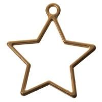 CM Metallanhänger Stern, 35 x 32 mm, goldfarben matt