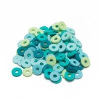 Katsuki Mix, 6mm, Turquoise ocean, ca. 100 Stück