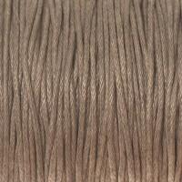 Gewachstes Baumwollband, hellgrau, Durchmesser 1 mm, Länge 74 m