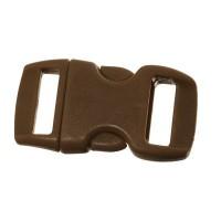 Klick-Verschluss, 29 x 15 mm, braun