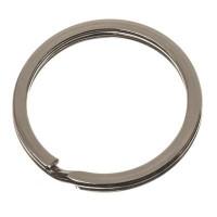 Schlüsselring flach, Durchmesser 30 mm, silberfarben