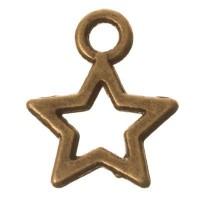 CM Metallanhänger Stern, 12 x 10 mm, bronzefarben