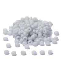 Miyuki Rocailles rund  11/0  (ca. 2 mm), Palest Grey Fancy Frosted, 24 gr.