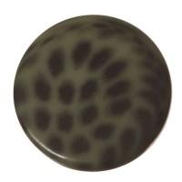 Polaris Cabochon Animalprint Leoprad, rund, flach, 12 mm, sage-schwarz