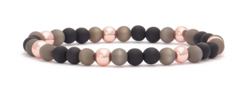 Armband mit Hämatitperlen Kugeln rosegoldfarben Polaris