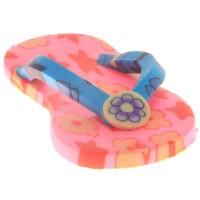 Polymer Clay Anhänger Flip Flop, 51,5 x 25 x 10 mm, rosa