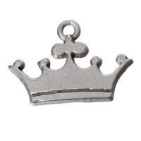 Metallanhänger Krone, 21 x 15 mm, versilbert