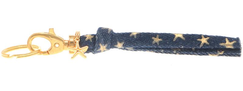 Schlüsselanhänger aus Jeansband Stern