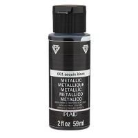 FolkArt Metallic-Acrylfarbe, 59 ml, sequin black